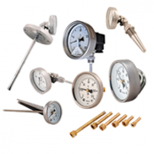 Bimetal thermometers and thermowells