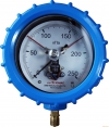 Vibration-proof Electric contact aluminium alloy pressure gauges 1ExdIIBT4 (Vibration-Proof gauge WITHOUT filling)