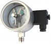 Vibration-proof Electric contact stainless steel pressure gauges  0ExiaIICT4