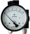 Differential pressure gauge with piston